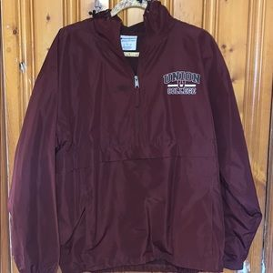 MAROON UNION COLLEGE QUARTER-Z WINDBREAKER HOODIE